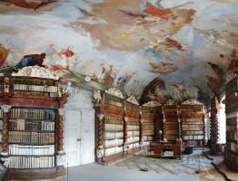 Historická knihovna v premonstrátském klášteře Nová říše