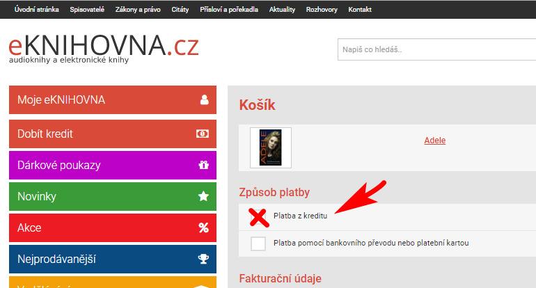 Platba z kreditu nahled www eknihovna.cz