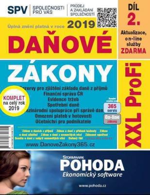 Daňové zákony 2019 ČR XXL ProFi (díl druhý, vydání 1.2)