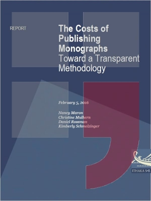 The costs of publishing monographs