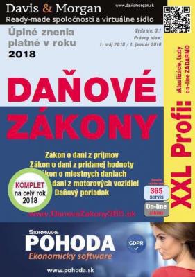 Daňové zákony 2018 SR XXL ProFi