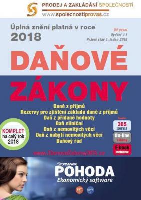 Daňové zákony 2018 ČR XXL ProFi