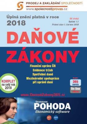 Daňové zákony 2018 ČR XXL ProFi (díl druhý)