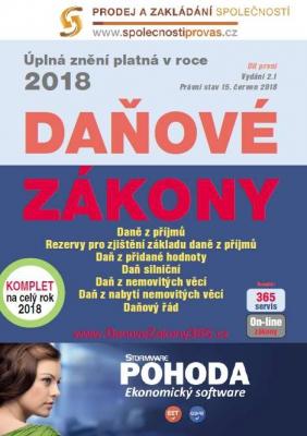 Daňové zákony 2018 ČR XXL ProFi (díl první, druhé vydání)