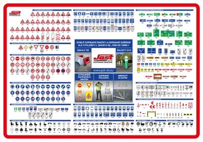 Dopravní značky tabulka pro tisk Jast