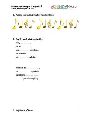 Hudební výchova pro 1.třídu I.