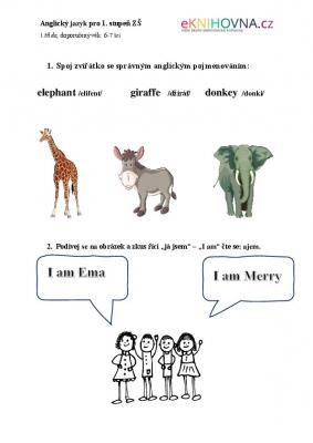 Hrátky s angličtinou pro 1. třídu