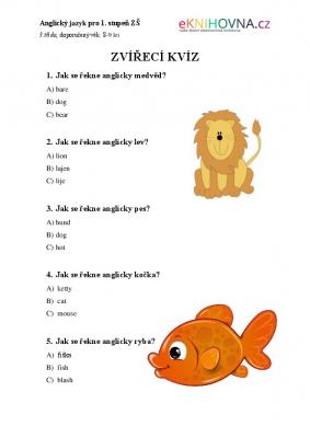 Hrátky s angličtinou pro 2. třídu III.