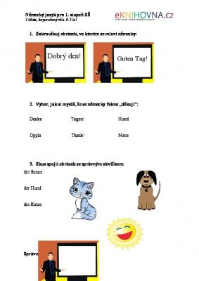 Německý jazyk pro 1.třídu I.