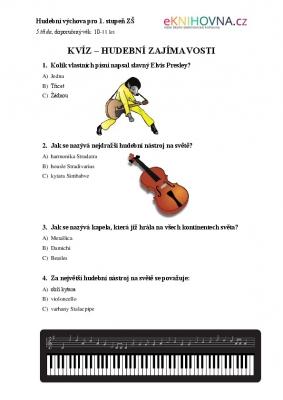 Hudební výchova pro 5 třídu III.