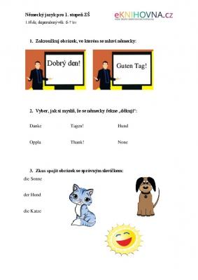 Německý jazyk pro 1. třídu