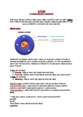 Chemie - 7. ročník Atom