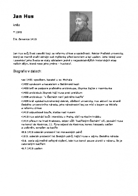 Životopis Jan Hus