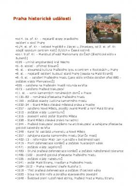 Praha historické události letopočty do roku 2004
