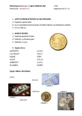 Finanční gramotnost pro 1. třídu