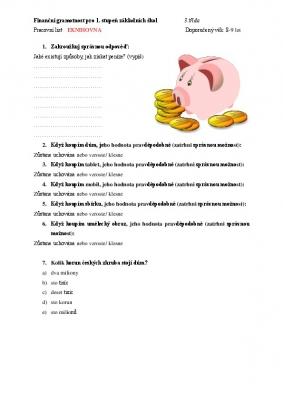 Finanční gramotnost pro 3. třídu II.