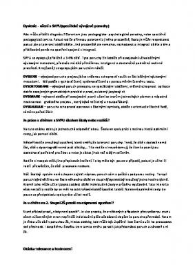 Dyslexie - učení s SVPU(specifické vývojové poruchy)