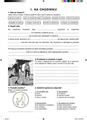 Na chodníků - Pracovní listy BESIP